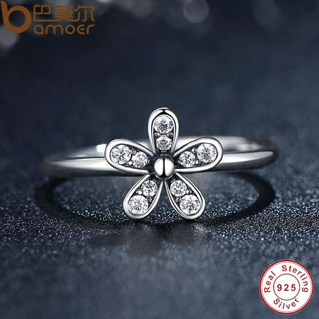 Sterling Silver Dazzling Daisy Flower Ring