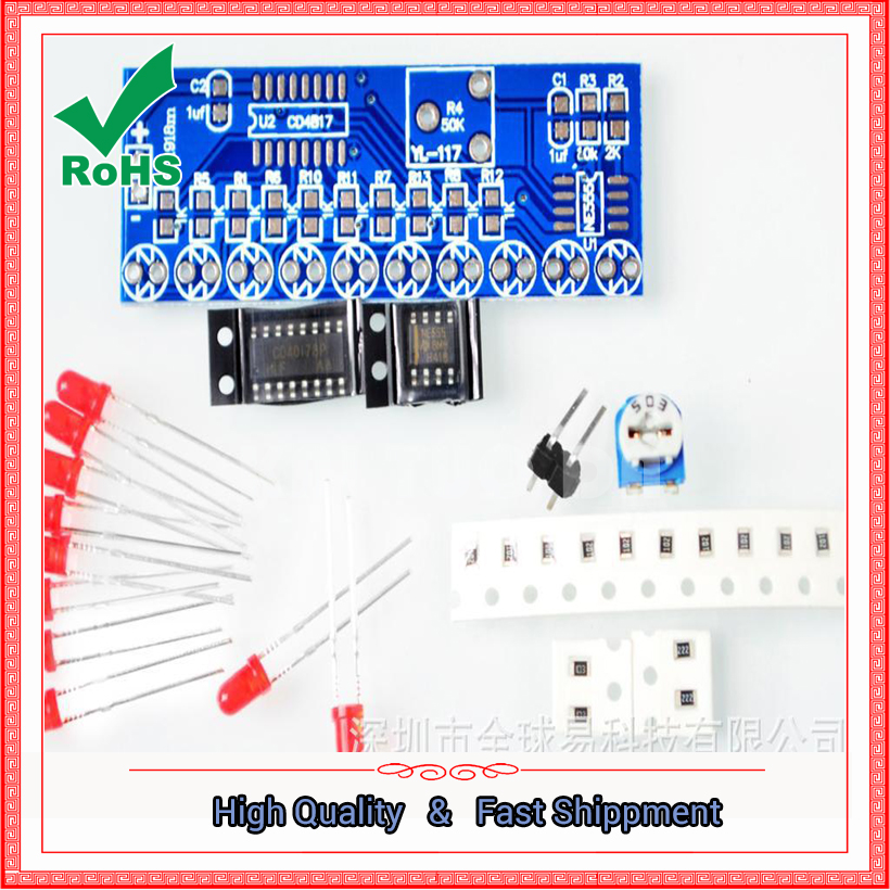 Water lamp kit NE555 + CD4017 water lamp electronic DIY spare parts electronic production electronic suite ne555p & 4017
