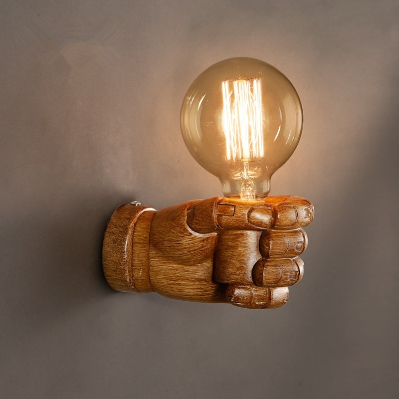 Aliexpress.com : Buy Nordic Loft Style Creative Resin Fist ... on Vintage Wall Sconces id=47212