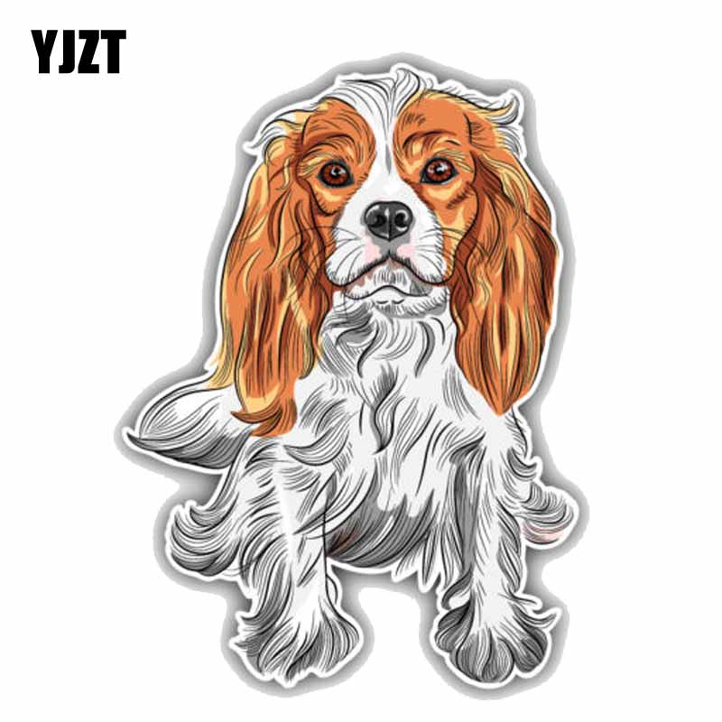 YJZT 13.1CMx17.9CM Cavalier King Charles Spaniel Dog PVC High Quality Material Car Sticker Decal C1-9030 tatonka cavalier black