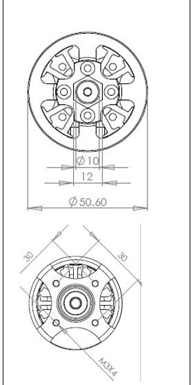 Fms 5060 kv360 360kv 모터 브러시리스 6 s 새로운 프레데터 1400mm pitts 1700mm p51 머스탱 rc 비행기 항공기 모델 비행기 부품-에서부품 & 액세서리부터 완구 & 취미 의  그룹 3