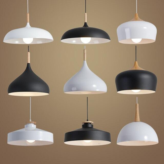 lighting loft. nordic pendant lights wood aluminum lampshade industrial lighting loft lamparas dining room lamp e27 light