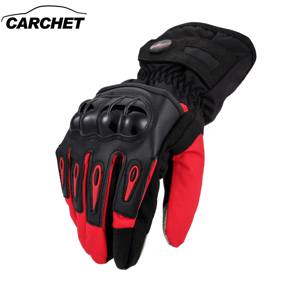 CARCHET Motorcycle <font><b>Gloves</b></font> Motorcross Bike Winter Warm <font><b>Gloves</b></font> Touch Screen Waterproof Full Finger Protective <font><b>Gloves</b></font> guantes moto