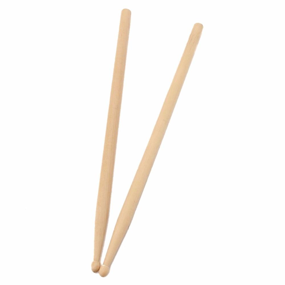 buy 2pcs 406mm maple 5a size maple wood drumsticks stick for drum lightweight. Black Bedroom Furniture Sets. Home Design Ideas