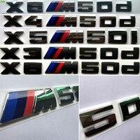 3D ABS 자동차 트림 스타일링 스티커 BMW X1 X3의 X5 시리즈 Xdrive 한 X350D X450D X550D X650D X650I X550I 엠블럼 배지 로고 편지