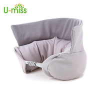 U-miss U Shaped Travel Pillow Foam Particles Neck Health Care Flight Car Nap travel Pillow waist support U pillow