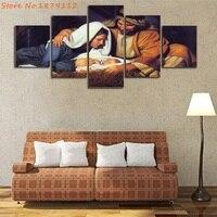 De Geboorte van Jezus 5 Stuks Schilderijen Canvas Poster Ingelijst & Unframed Wall Art Woonkamer Decor Moderne Foto Hot Koop Kunstwerk