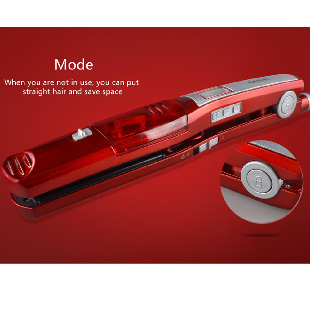 Steam Flat Iron New Steam Comb Straightening Irons Automatic Straight Hair Brush Electric Ceramic Hair Straightener Tools 2017 hair straightener brush electric straightening irons straight steam comb with lcd display hair care tools styling