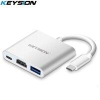 KEYSION Type C To HDMI Adapter USB Type C HDMI Multifunction Converter With USB C HUB