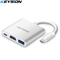 KEYSION Type C To HDMI Adapter USB Type C HDMI Multifunction Converter With USB C HUB