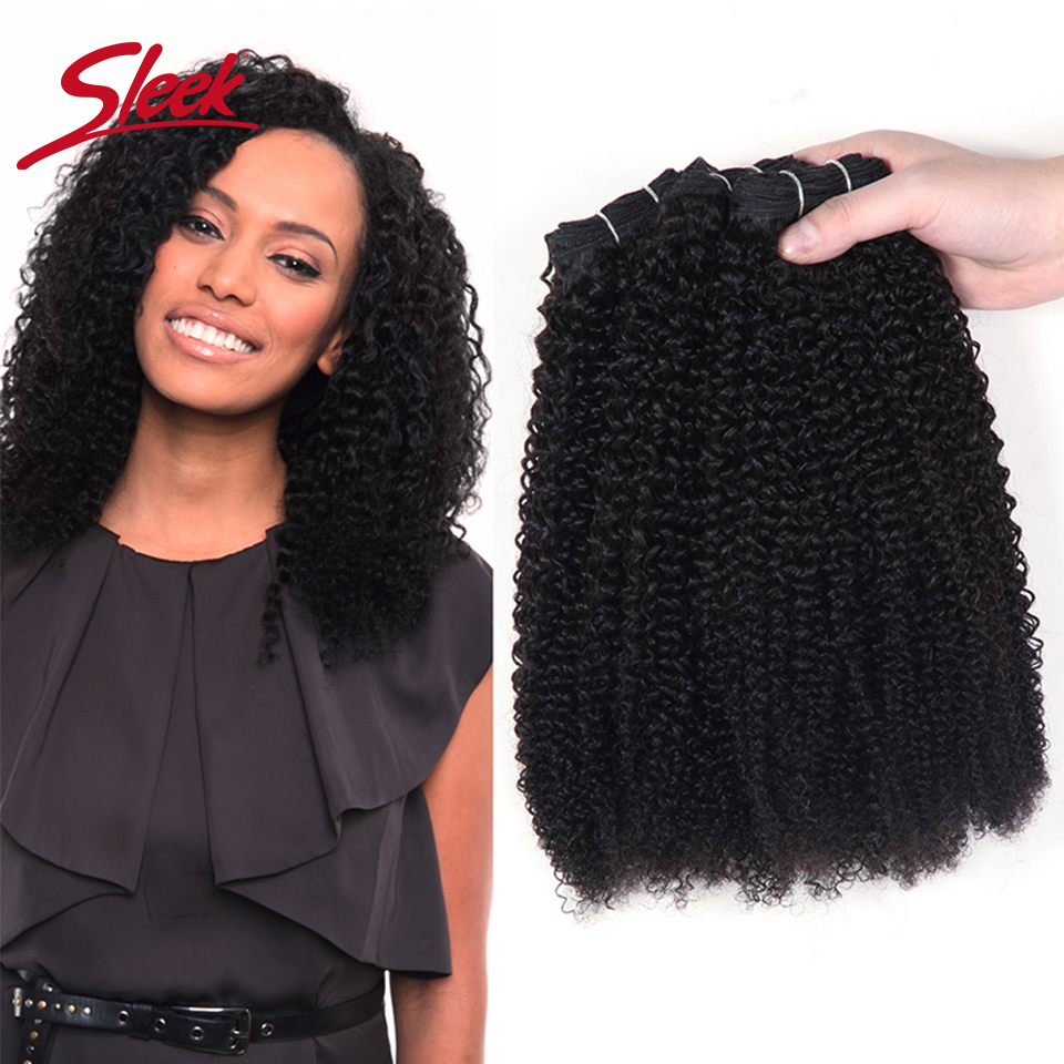 Sleek Remy Afro Kinky Wave Curly Hair 100% Remy Indian Human Hair Weave Bundles Natural Color Free Shipping 10 To 28 Inches
