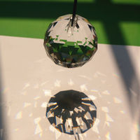Practical 10pcs Crystal Glass Lamp Chandelier Prisms Party Decor Hanging Drop Pendant 40mm