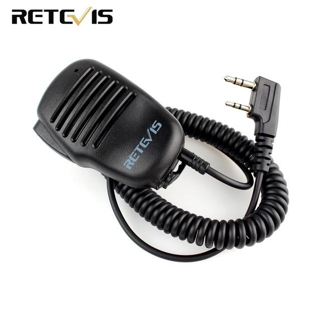 2 Pin PTT Динамик микрофон для Kenwood радио BAOFENG UV-5R RETEVIS H777 RT5R RT3 RT5 RT80 PUXING TYT переносной любительский радиоприёмник рации C9021