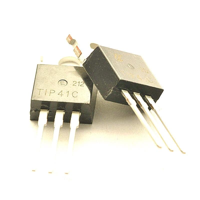 ✓5 pz TIP41C + 5 pz TIP42C Transistor TO-220 Totale 10 pz - a714 ca4625eebe79