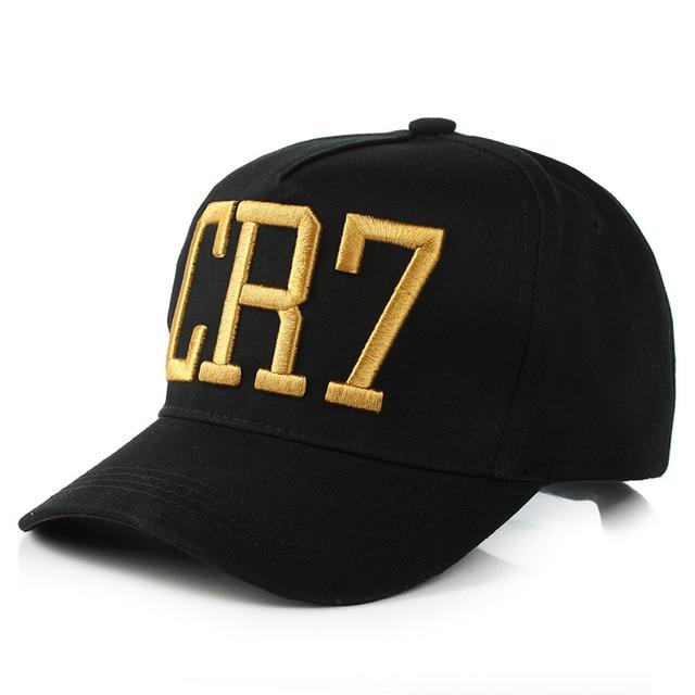 afd8cc95ee846 Fashion Style Cristiano Ronaldo CR7 3D embroidery Baseball Caps Hip Hop Caps  cotton adjustable Snapback Hats High Quality