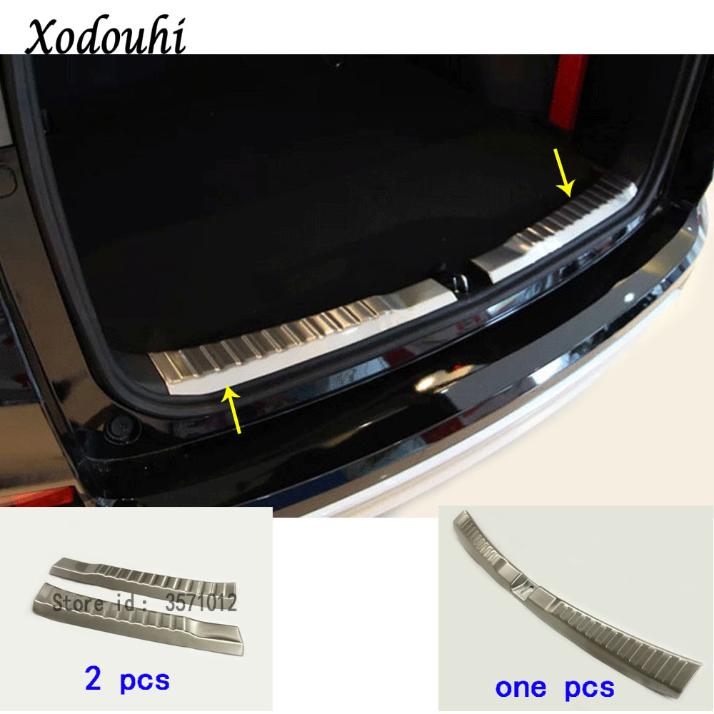 For Honda CRV CR-V 2012 2013 2014 2015 2016 car Stainless Steel Inner Rear trunk Bumper trim plate lamp frame threshold pedal stainless steel rear bumper sill trunk pedal for bmw x6 f16 2015 2016 tread plate car styling rear protective pedal rear guard