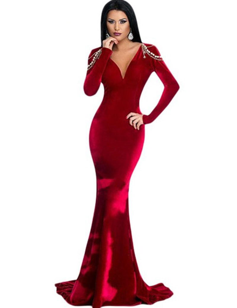 Popular Red Velvet Dress-Buy Cheap Red Velvet Dress lots from ...