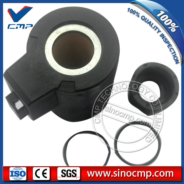 EC210 EC240 24V Electronic Injection Solenoid Coil (H: 59mm, Dia: 20/21mm) for Volvo Excavator
