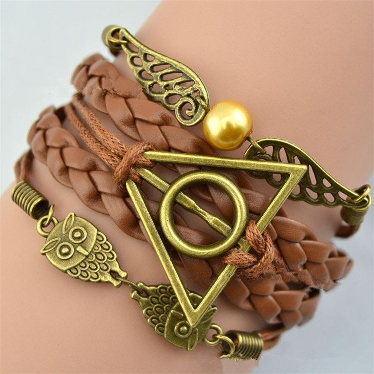Kids Toy Bracelet Action-Figure Wings Hallows Potter Death Flying Retro Triangle Golden