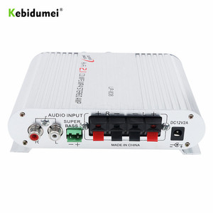 Image 3 - Car 3 Channel Amplifier Stereo Mega Bass LP 838 12V 300W Hi Fi Connect With Phone PC DVD Player MP3 MP4 Portable Subwoofer