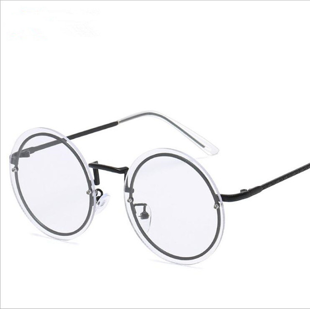 591a5be54bd KDDOU new brand fashion ultra-light metal frame glasses women s round  glasses men retro decoration