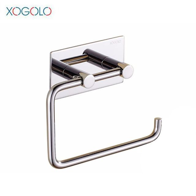 Xogolo SUS 304 Stainless Steel Kitchen Bathroom Towel Dispenser 3M Stick  Suction Cup Toilet Paper Holder
