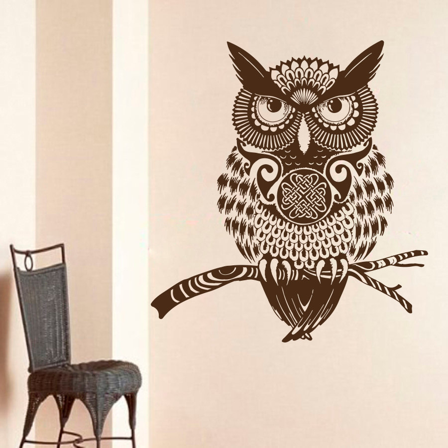 Buy High Quality Brown Owl Wall Decal