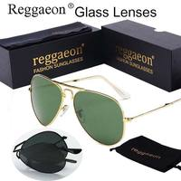 Luxury Famous Brand Folding Sunglass Glasses Lens Women Men Mirror Pilot Rays Aviator Sunglasses 62MM Big