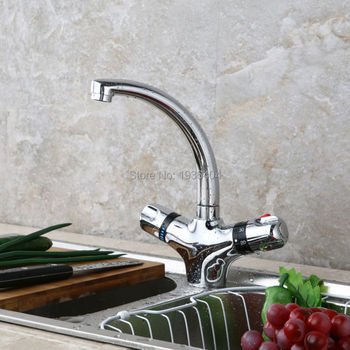 Bathroom Basin Faucet Thermostatic Mixing Valve Dual Handles Torneira Hot and Cold Temperature Control Taps TR506
