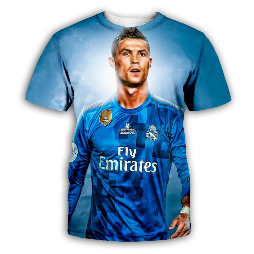 huge selection of 1ef46 4e0e6 US $7.1 21% OFF|PLstar Cosmos Cristiano Ronaldo Tees 3D Print  Hoodie/Sweatshirt/Jacket/shirts Men Women Galaxy Blue shirts Drop  shipping-in Hoodies & ...