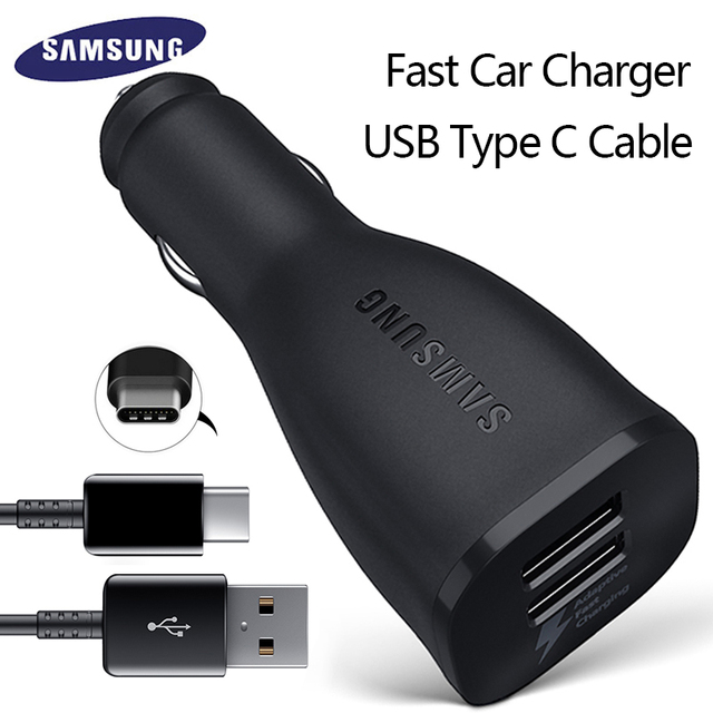 Samsung S8 S8Plus Car Charger Original Adaptive Fast 9V 167A 5V 2A Quick