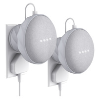 KIWI design UK/AU Version Outlet Wall Mount Holder for Google Home Mini, A Space Saving Accessories Silicon Case 2Pack