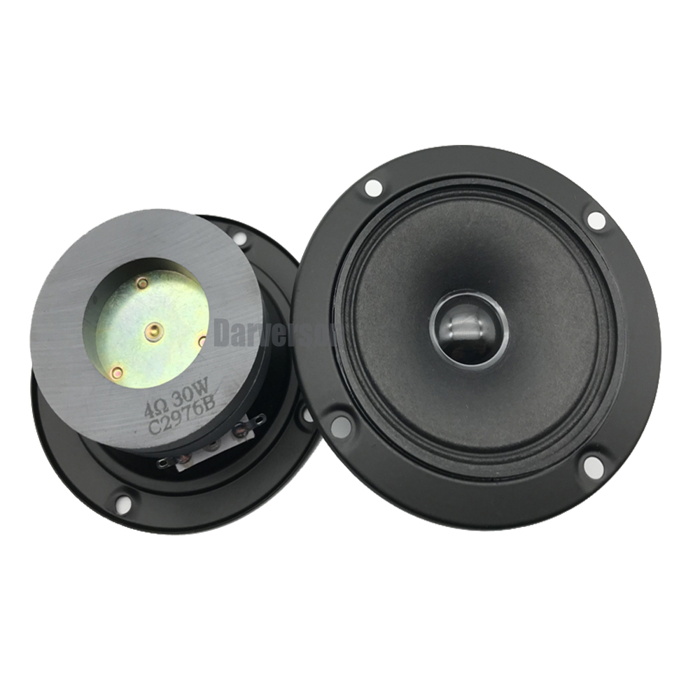 HIFI 3 inch dual magnet dome horn tweeter car home KTV stage audio DIY treble speaker driver unit Impedance 4 in Speaker Accessories from Consumer Electronics