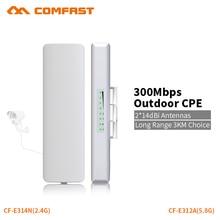 COMFAST 300 mb/s Router most Router wi fi zewnętrzny CPE Repeater bezprzewodowy zewnętrzny Repeater WiFi dla daleki zasięg kamery IP projekt