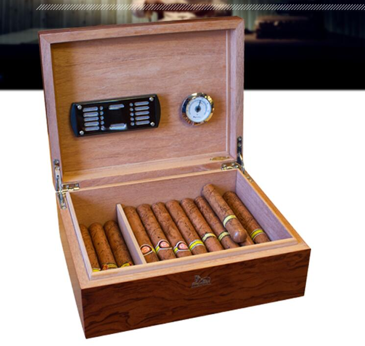 fashion rectang black Oryginal wooden cigar box cigar storage box cigar organizer wooden box men s