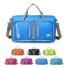Новая уличная дорожная сумка Спортивная Фитнес раскладная Сумочка для мужчин и женщин портативная туристическая Наплечная Сумка для кемпинга