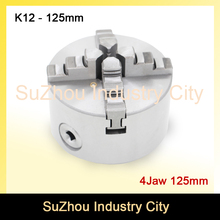 CNC 4th axis A axis 130mm 4 jaw Chuck self centering manual chuck four jaw for