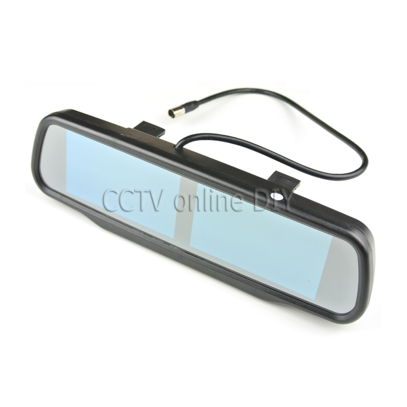 Dual 4.3 TFT LCD Rear View Car Monitor Mirror 2CH Video In 2pcs Screen Display Universal Version Free Shipping linvel 8170 2 ch mirror