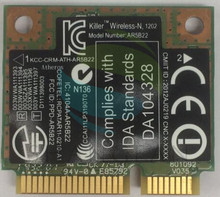 hot deal buy dual band bigfoot networks killer n1202 ar5b22 0ctj7g ctj7g half mini pci-e 300mbps bluetooth 4.0 wireless laptops wifi card