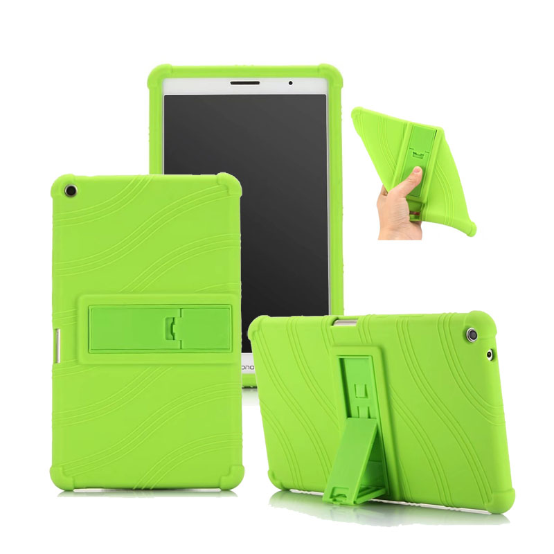 Soft Silicone Stand Cover For Huawei Mediapad T3 8 0 Protective Case Skin 30PCS Lot