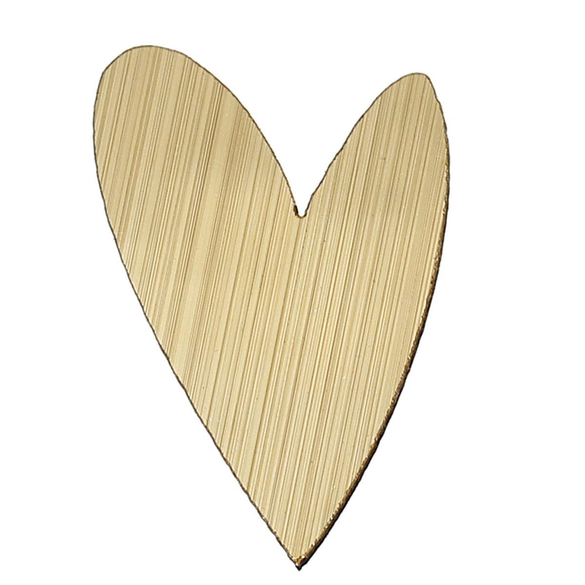Wood Cabochons Scrapbooking Embellishments Findings Heart Golden 30mm(1 1/8)x 20mm(6/8),50 PCs 2015 new