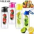 Vilead 800 ml moda carne fruto infusor infusão fitness saúde lemon juice fazer ciclismo garrafa de esportes garrafa de água copo de acampamento