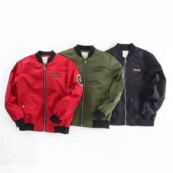 2017kids autumn spring Jacket for Baby Boys Children's Coat Children Zipper Bomber Jackets Kids Coat kids Army Outwear
