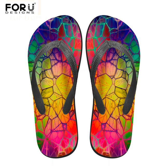 0b3fe97a4 FORUDESIGNS 2018 Fashion Solid Rubber Slippers for Women Summer Beach Flip  Flops Female Light Weight Sandals Ladies Flat Shoes