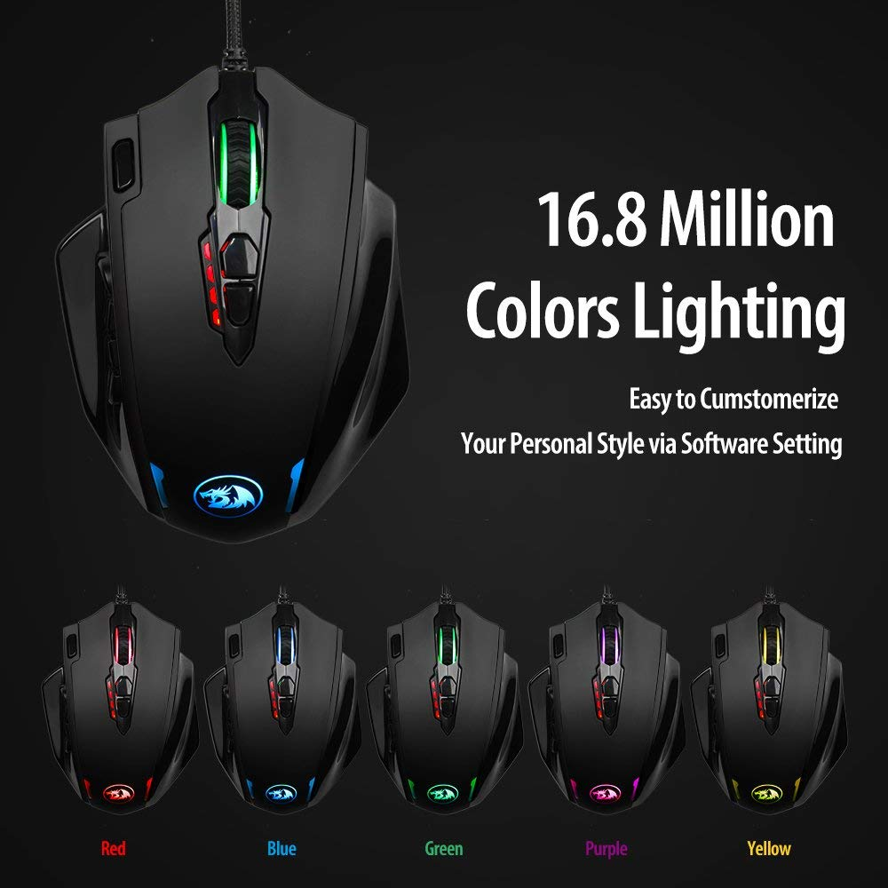 791397111fc 2019 Redragon M908 Impact MMO Mouse Laser Gaming Mouse Programmable ...
