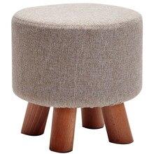 Устойчивый деревянный стул дома гостиная диван стул тканевый стул изменить обуви скамейке место макияж деревянный