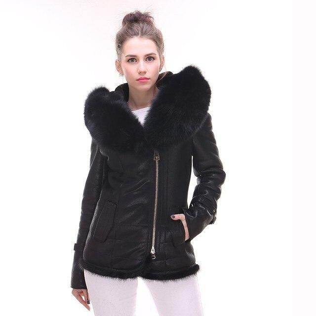 chaqueta mujer Piel corta para ladys auténtica calidad cuero de Alta x1qn4wXECw