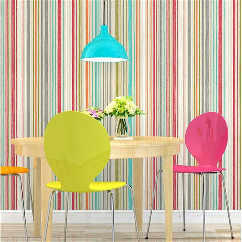 beibehang Modern minimalist fashion color vertical stripes wallpaper Bedroom living room wallpaper personality background wall modern stripe wallpaper plain simple nonwoven wallpaper for bedding room pink vertical wallpaper page 5