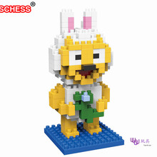 SC: Line Town Nicole Rabbit  1029 Diamond Micro Nano Building Blocks Action Figure boy & girl gifts