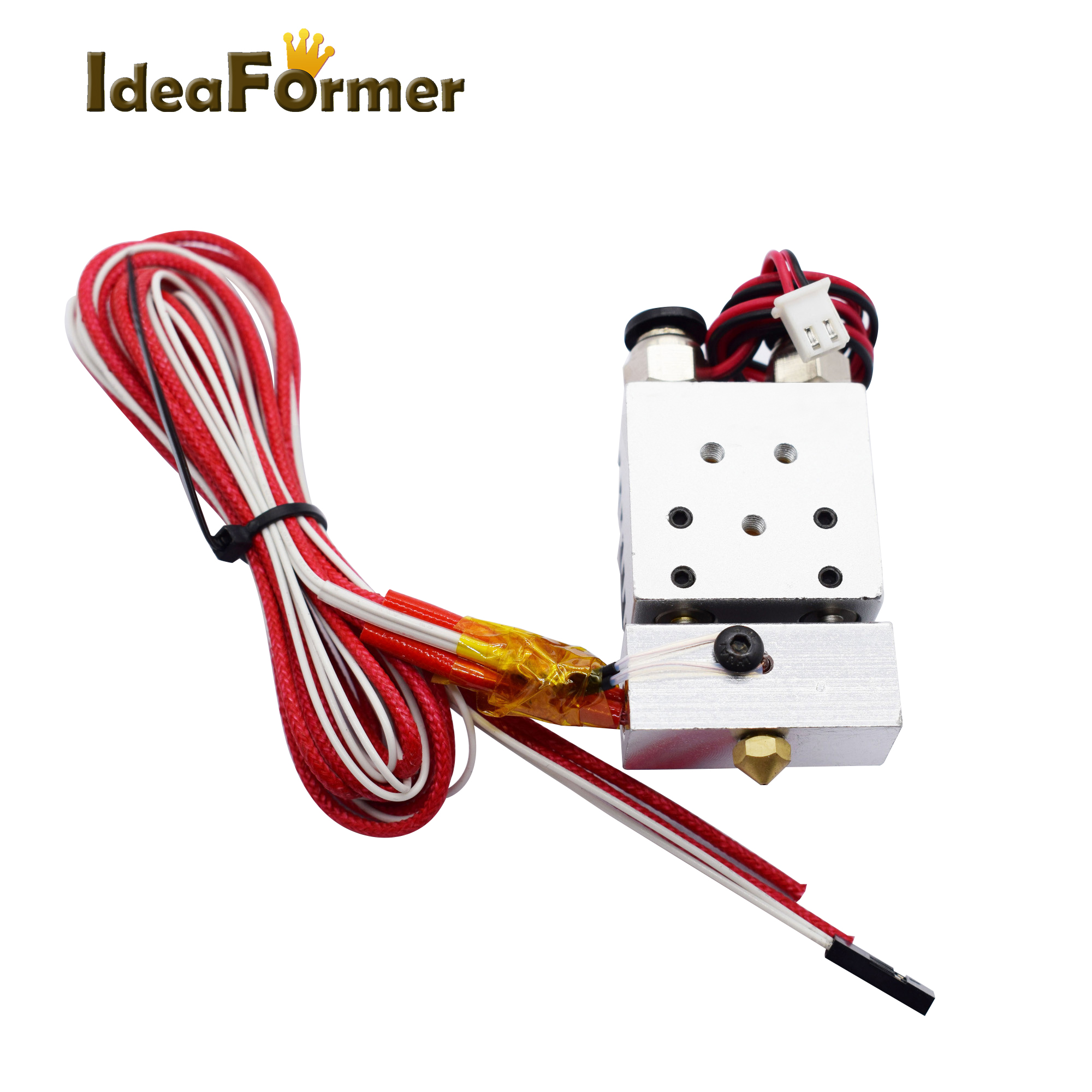 2 In 1 Out Bowden Double color Extruder Cyclops 12V/24V Bore 0.4mm 1.75mm filament with Cooling fan full kit 3D Printer parts